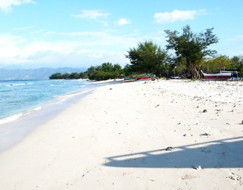 Gili Trawangan beach view