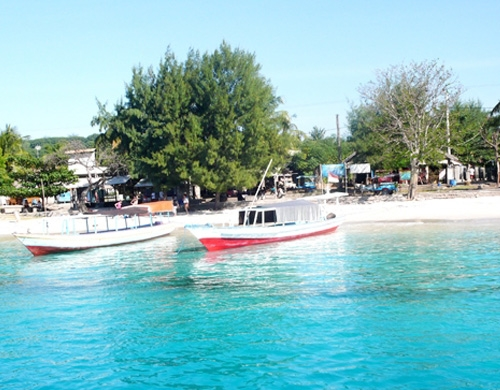 Harbor on Gili Trawangan